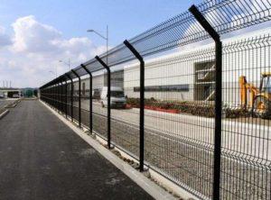 3д забор возле склада