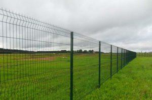 3д забор в поле