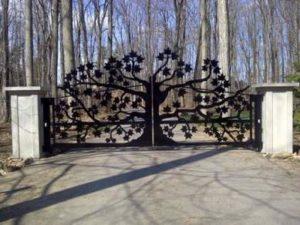 забор из металла декоративный