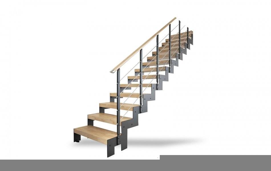 Металлокаркас лестницы с перилами