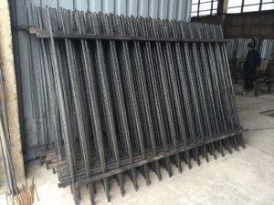 Забор секционный на складе