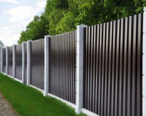 забор из металлического профнастила
