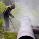 пескоструйная обработка труб водой