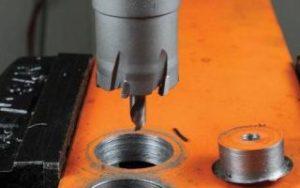 Сверление металла коронкой