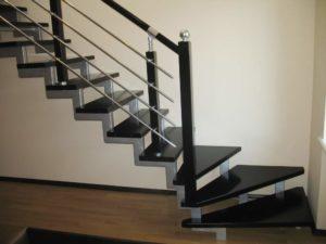 лестницы на металлическом каркасе на заказ