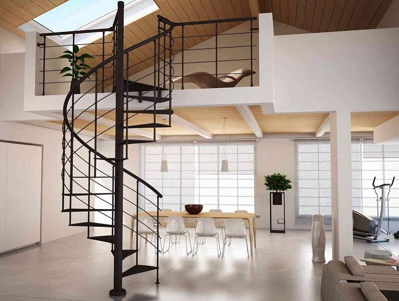 металлическая винтовая лестница на заказ