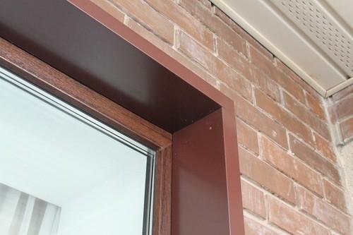 Металлический откос на окно
