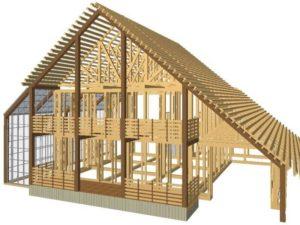 разработка проектов каркасных домов на заказ