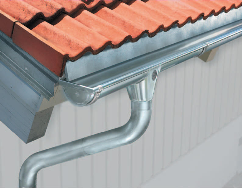 Металлические водостоки для крыши