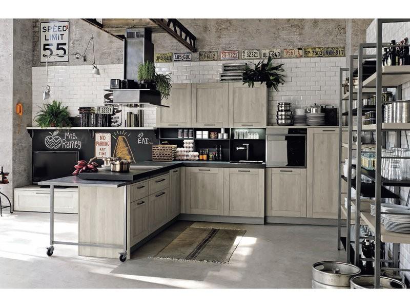 Кухонный гарнитур стиль лофт