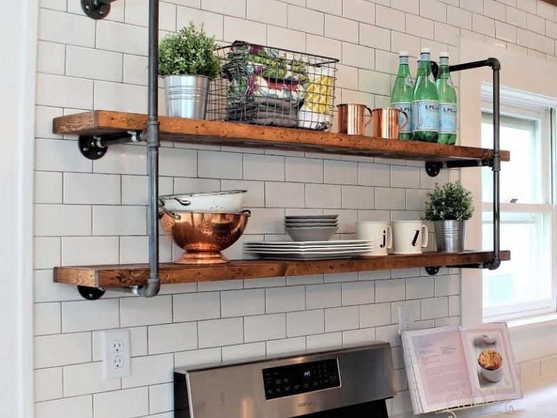 Кухонные полки лофт