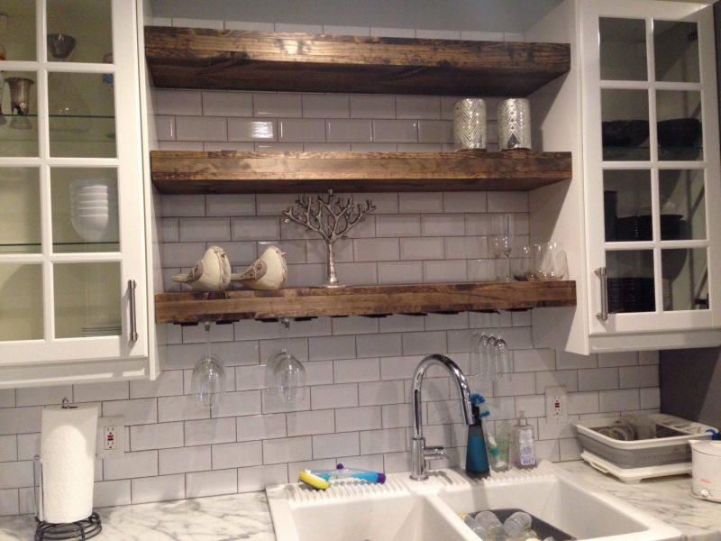 Полка в стиле лофт на кухню