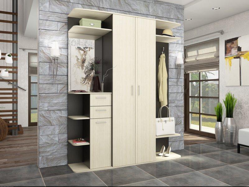 Шкафы в прихожую в стиле лофт