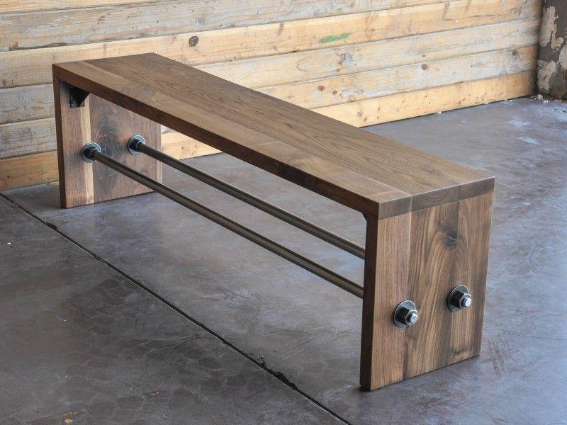 Скамейка в стиле лофт для прихожей