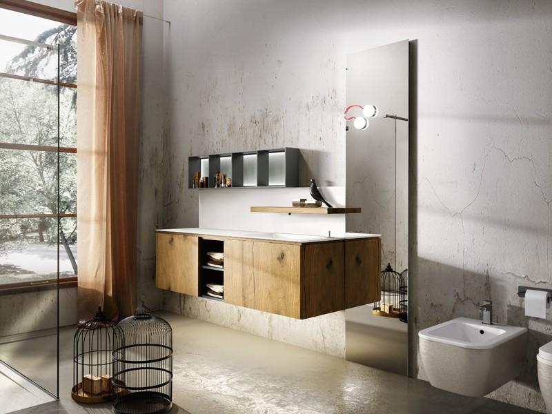 Тумбы в стиле лофт для ванной