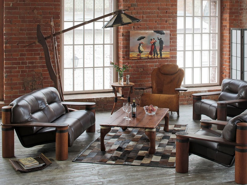 диван в стиле лофт в гостиную на заказ