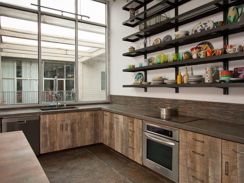 Кухонные гарнитуры в стиле лофт yf pfrfp