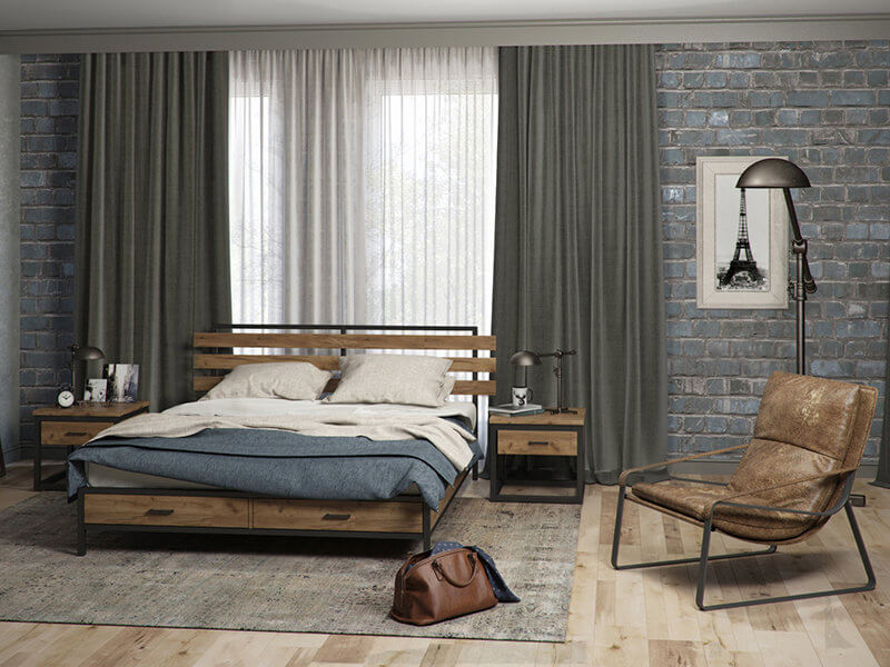 мебель лофт для спальни на заказ