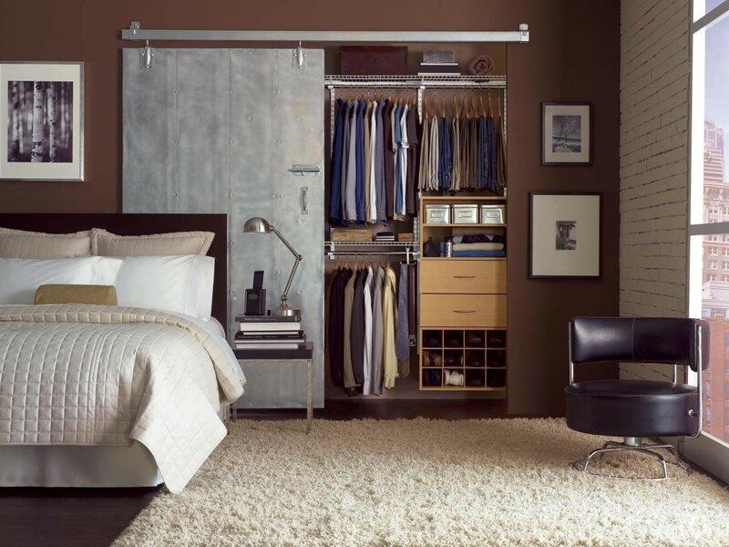 шкаф лофт в спальню на заказ
