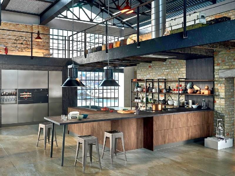 стеллаж loft на кухню на заказ