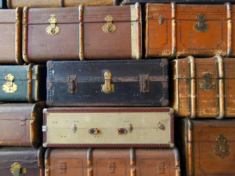 Стиль лофт чемоданы