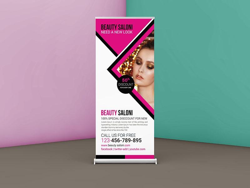 Рекламные баннеры для салона красоты