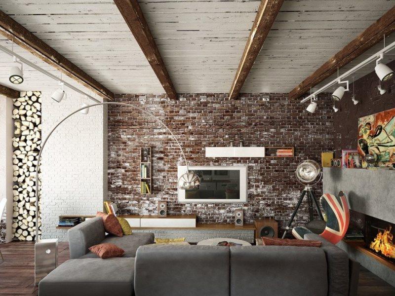 Декор лофт на стену