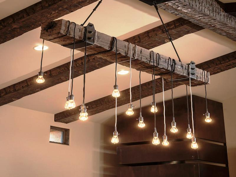 Лофт светильники из дерева