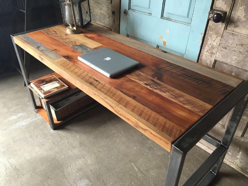 Деревянный стол лофт