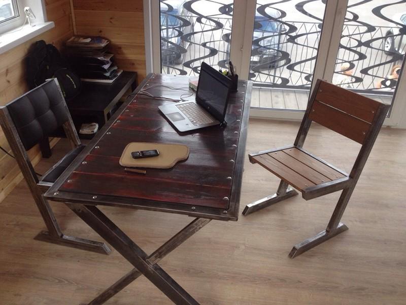 Деревянный стул лофт