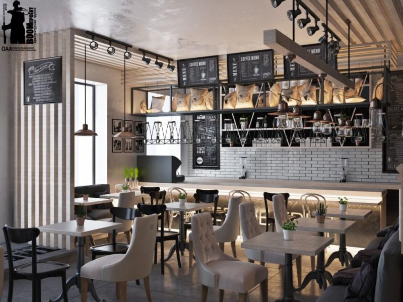 Лофт кафе дизайн