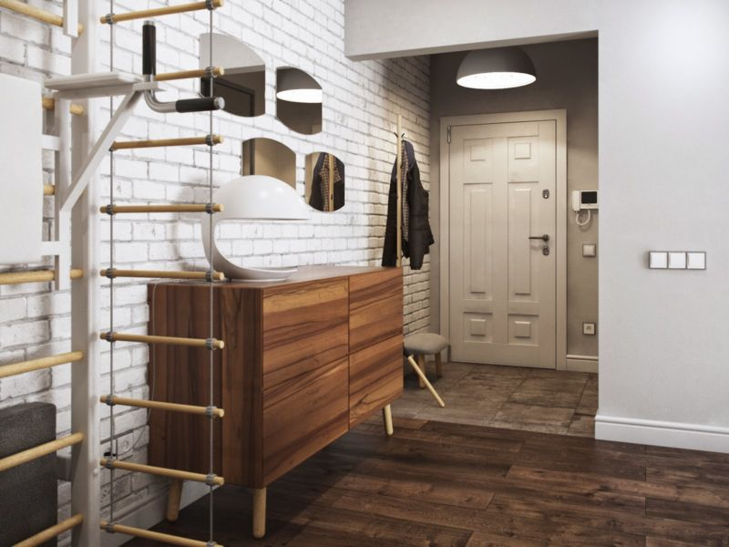 Дизайн коридора в стиле лофт