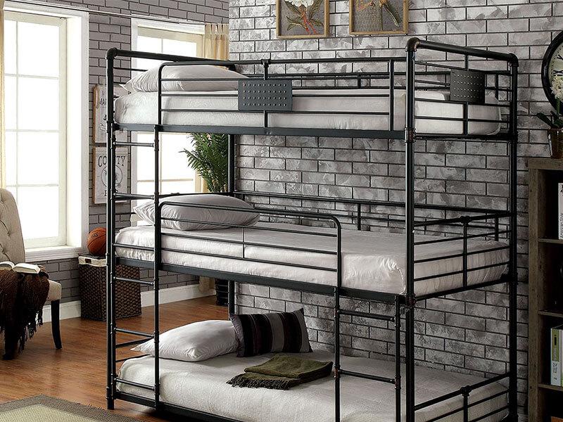 Двухъярусная кровать в стиле лофт