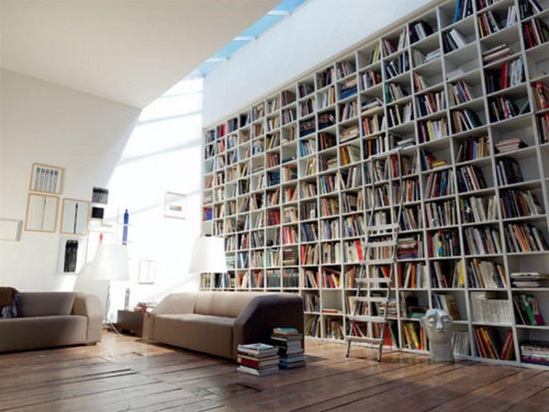 Книжные полки в стиле лофт