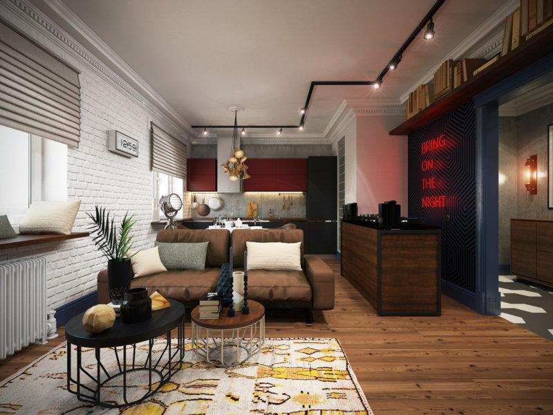 Лофт дизайн квартиры