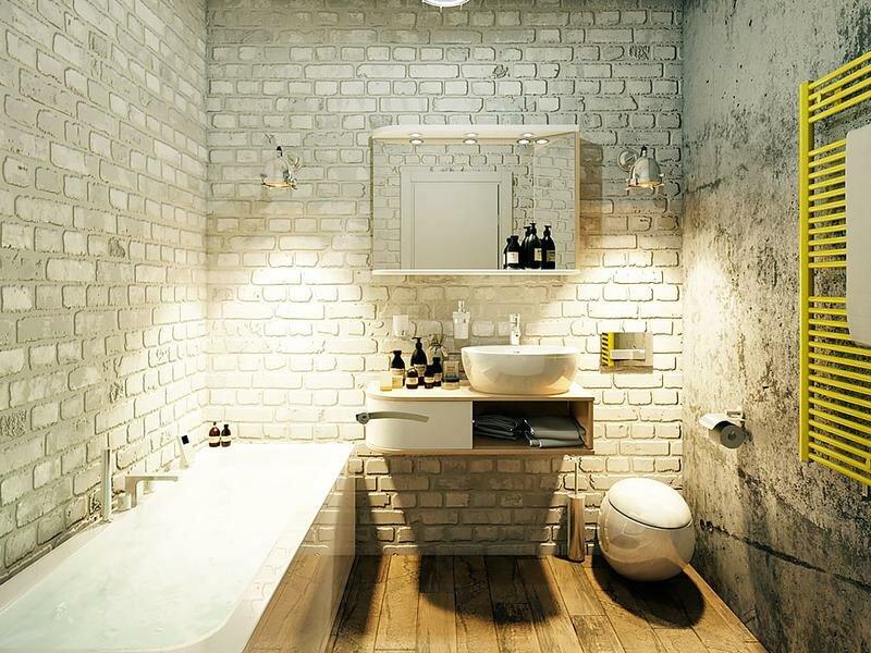 Ванная комната дизайн лофт