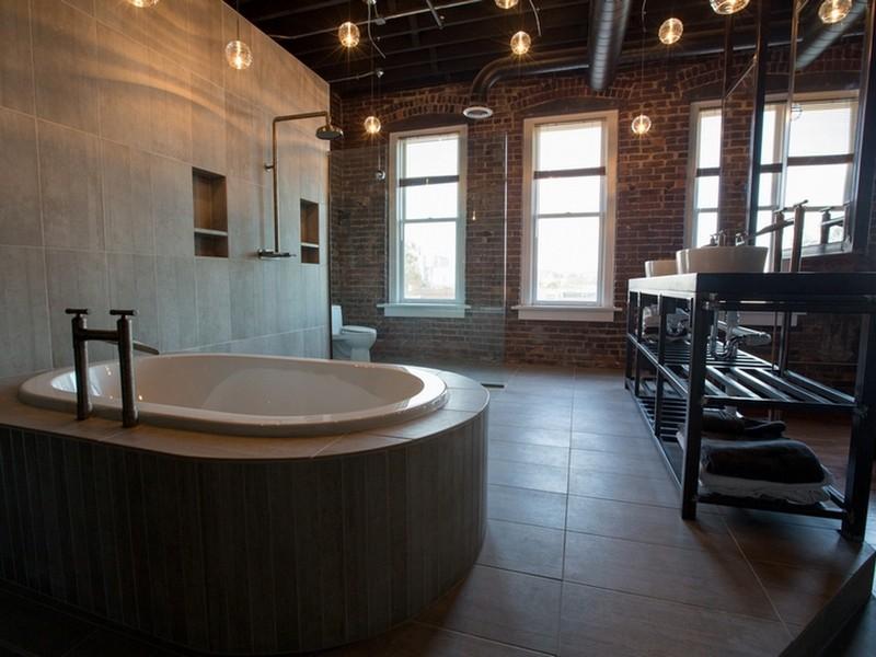 Светильники лофт в ванную