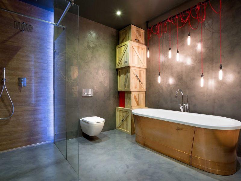 Лофт светильник для ванной