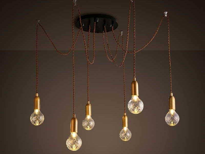 Потолочные люстры в стиле лофт