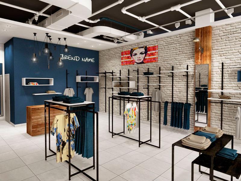 Дизайн лофт магазина