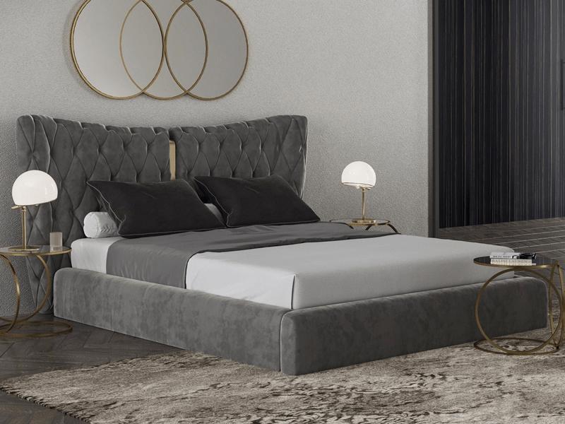 Кровать лофт с мягким изголовьем