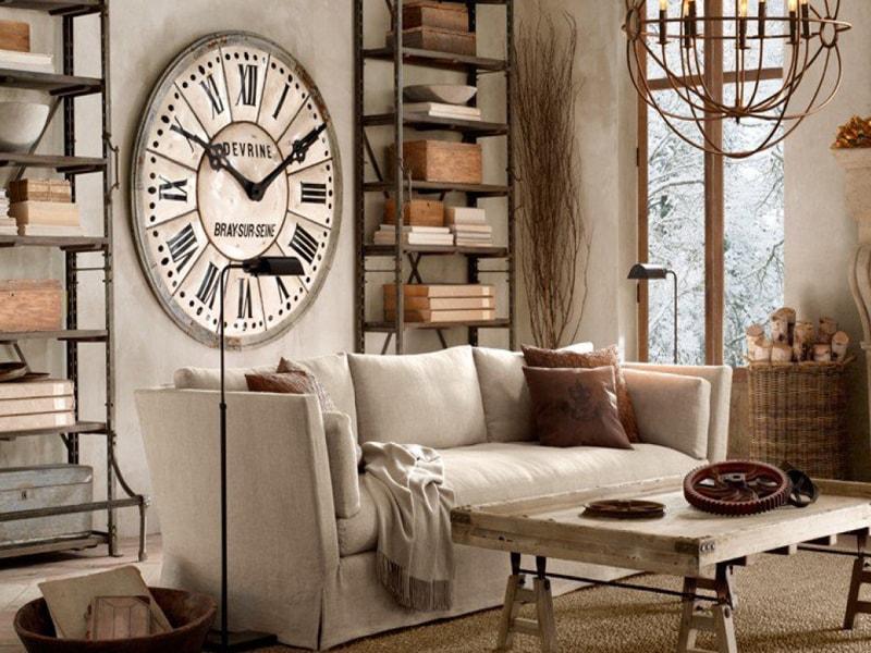 Часы на стену в стиле лофт