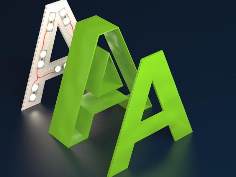 Объемные буквы с подсветкой реклама