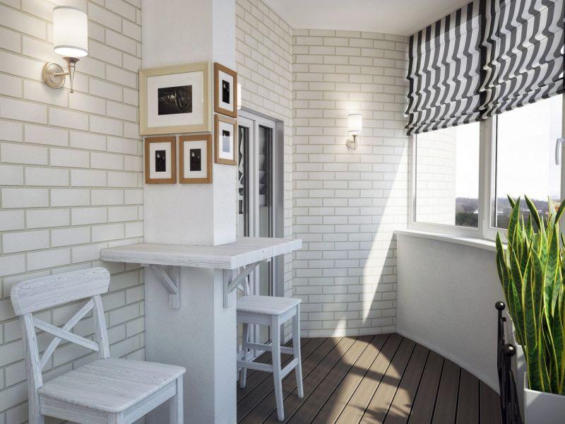Отделка балкона в стиле лофт