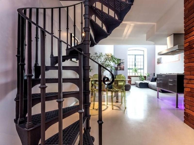 перила для металлических лестниц лофт на заказ