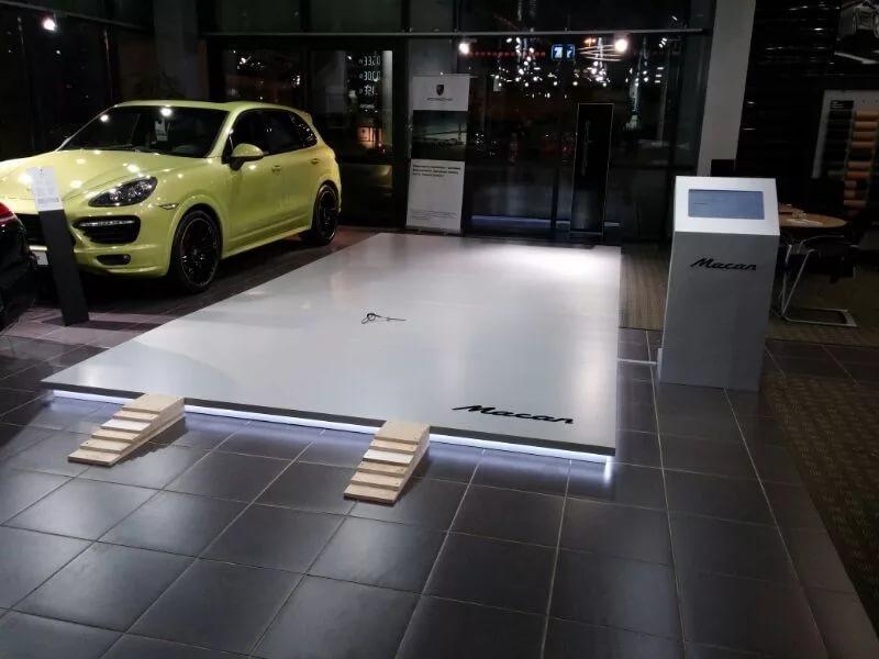 Подиум для автомобиля