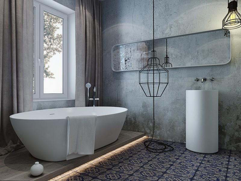 Ремонт ванны в стиле лофт