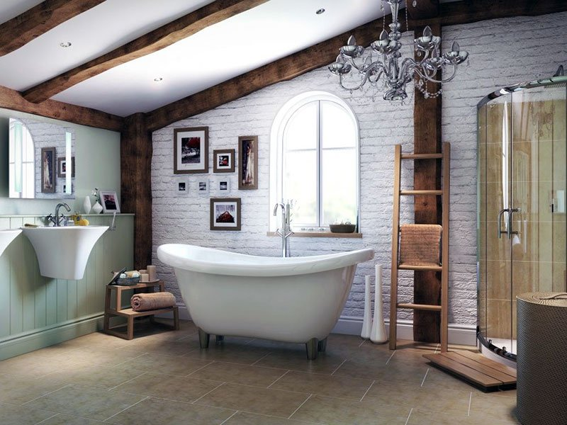 Ремонт в ванной в стиле лофт