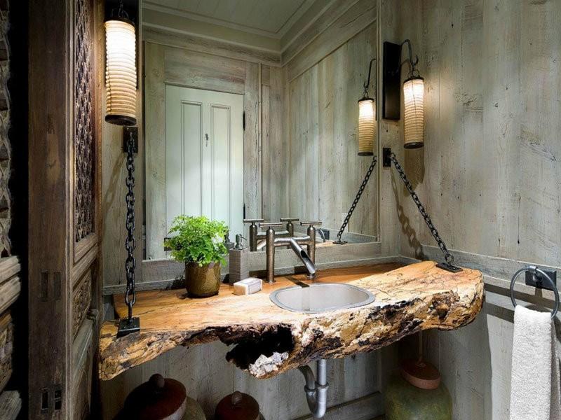 Зеркало в ванну в стиле лофт