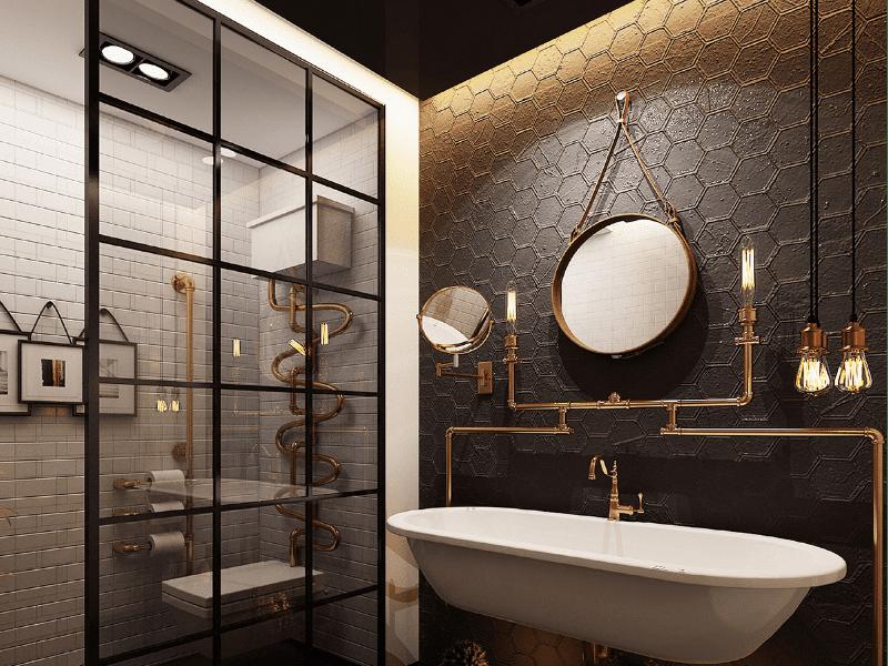 Зеркало лофт в ванную